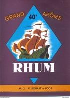 1 Etiquette Ancienne De RHUM - R.ROHART A LOOS - GRAND AROME - Rhum
