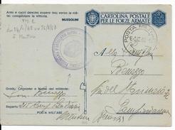 1943 - OCCUPATION ITALIENNE En FRANCE - RARE CARTE MILITAIRE De MENTONE (MENTON) POSTE MILITAIRE N.1 - Poststempel (Briefe)