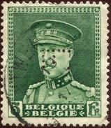 COB  323 (o) / Yvert Et Tellier N° 323 (o)  Perfin / Perforé - 1909-34