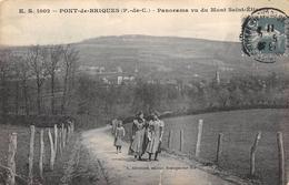 CPA 62 PONT DE BRIQUES PANORAMA VU DU MONT SAINT ETIENNE 1911 - Autres Communes