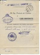 1940 - OCCUPATION ITALIENNE En FRANCE - RARE LETTRE RECO De La SECTION SANITAIRE N.47 POSTE MILITAIRE N.42 à MENTON - Poststempel (Briefe)