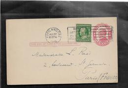 Etats Unis PORTLAND Entier Postal Mc KINLEY 1c + Complément Pour PARIS 1912......G