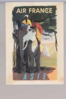 Cpm ,    Air France   Asie , Illustrateur André Golven 1950 ,  Non  Voyagé - Aviation