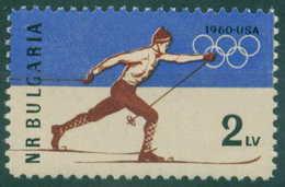 1211 Bulgaria 1960 Winter Olympic Games - **MNH / Olympische Winterspiele, Squaw Valley -Ski Long Run Bulgarie Bulgarien - Bulgarie