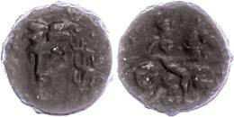Larissa, Ae (5,66g), ca. 3. Jhd. v. Chr. Av: Kopf der Nymphe Larissa in 3/4 Ansicht. Rev: Reiter mit Lanze nach...