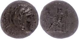 Makedonien, Aspendos, Tetradrachme (15,82g), postume Prägung Kleinasiens, ca. 205/4 v. Chr., Alexander III.....