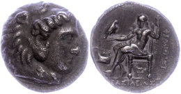 Makedonien, Aradus, Tetradrachme (16,78g), Philip III., 323-316 v. Chr. Av: Herakleskopf mit Löwenfell nach...