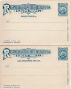 LBR39  BOLIVIE CARTE POSTALE AVEC REPONSE PAYEE NEUVE - Bolivie