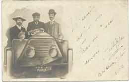 CARTE PHOTO 1903 AVEC VEHICULE AUTOMOBILE - PKW