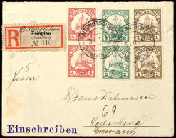 """""""TAITUNGTSCHEN 3.11.11""""; 2mal Klar Auf Portorichtigem R-Brief (ohne Klappe) Mit 1,2 Und 4 C. Kaiseryacht Je Senkr...."""