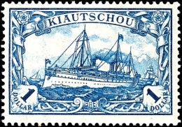 """1 Dollar Blau Kriegsdruck Mit Plattenfehler """"1 Kreuzweise Schraffiert"""", Sauber Ungebraucht, Fotokurzbefund Steuer..."""