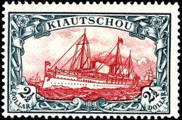 2 1/2 Dollar Kaiseryacht, 25:16 Zähnungslöcher, Ungebraucht, Tadellos, Mi. 2.600.-, Katalog: 27B *2 +...