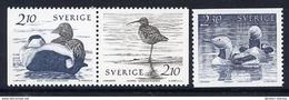 SWEDEN 1986  Waterfowl  MNH / **.  Michel 1376-78 - Sweden