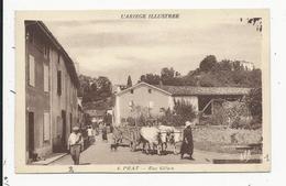 Prat  Rue Gélan  Avec Attelage - France