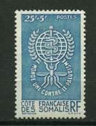 Côte Des Somalis .**  N° 304 Eradication Du Paludisme - Côte Française Des Somalis (1894-1967)
