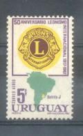 URUGUAY AN 1968 CINQUANTENAIRE DU LIONS INTERNATIONAL - CLUBES DE LEONES  YVERT AERIENNE NR. 334 MNH - Uruguay