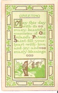 Saint-Patrick's Day Greeting May This Day With Its Many Beautiful Memories Of Old Ireland's Patron Saint . . . . . . - Saint-Patrick's Day