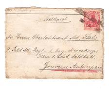 Deutschland Feldpost Pakket Germania Berlin 22/4/1916 ? Auf Karton Nach Belgien Gouvern Antwerpen PR4542 - Deutschland