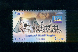 EGYPT / 2014 / EGYPTIAN SCOUT CENTENARY / SCOUTS / SCOUTING / SPHINX / THE PYRAMIDS / FLAG / MNH / VF - Nuovi