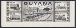 Guyana 1987 Mi 2014 /8 - 5-block ** Guyana Railways - Locomotive/ Eisenbahnen - Lokomotive / Treinen - Treinen