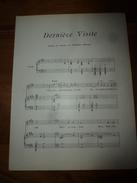 Vers 1900  : DERNIERE VISITE (paroles Et Musique De Georges Frilley) - Partitions Musicales Anciennes
