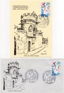 1981 - JEUNEXPO BASSE-NORMANDIE à Caen - Tp N° 2125 - 2 Documents - Marcophilie (Lettres)