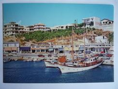 GREECE GRECE GRIECHENLAND - RAPHINA RAFINA : VUE DU PORT QUAI QUAY HAFENS KAIS PORTO MOLO -  BATEAU SHIP BARCO - Greece