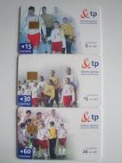 3 Chip Phonecards From Poland - Football - Poland