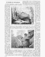 LES ROCHERS DE FONTAINEBLEAU   1891 - Ile-de-France