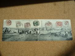 Carte Postale Double Campagne Du Maroc Affranchie France Allemagne Espagne Oblitération Casablanca 1908 - Maroc (1891-1956)