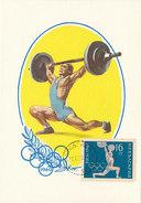 D29929 CARTE MAXIMUM CARD 1960 BULGARIA - WEIGHT LIFTING OLYMPICS ROME CP ORIGINAL - Weightlifting