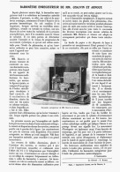 BAROMETRE ENREGISTREUR De MM. CHAUVIN Et ARNOUX   1907 - Sciences & Technique
