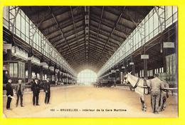 * Brussel - Bruxelles - Brussels * (Edition Grand Bazar Anspach, Nr 160) Intérieur De La Gare Maritime, Cheval, TOP Rare - Bruxelles-ville