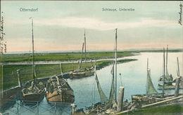 AK Otterndorf, Schleuse, Unterelbe, Um 1906 (9775) - Germania