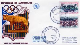 Mauritania, Summer Olympics 1964, Tokyo (Japan), 1962, FDC Cover VF Scarce - Mauritania (1960-...)
