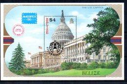 "Belize - 1986 - ""Stockholmia 86"" Stamp Exhibition Miniature Sheet - MNH - Belize (1973-...)"