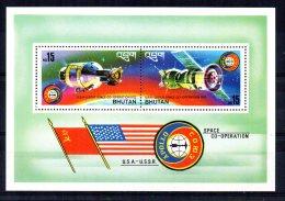 "Bhutan - 1976 - ""Apollo-Soyuz"" Space Link Miniature Sheet - MNH - Bhoutan"