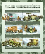 MOZAMBIQUE 2013 SHEET MILITARY HISTORICAL VEHICLES VEHICULES HISTORIQUES MILITAIRES Moz13108a - Mozambique