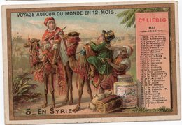 EN SYRIE  VOYAGE AUTOUR DU MONDE EN 12 MOIS  MAI CHROMO  VERITABLE EXTAIT DE VIANDE LIEBIG   TRES BELLE ILLUSTRATION - Liebig