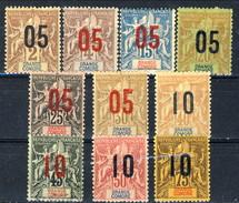 Grand Comore 1912 Serie N. 20-29 MH Cat. € 18