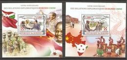 Burundi - 2012 - 50 Ans De Relations Diplomatiques Brurundi-Chine  - 2 Blocs MNH