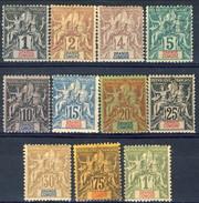Grand Comore 1897 Serie N. 1-13 (mancano N. 10 E 11) MH Cat. € 214 - Grote Komoren (1897-1912)