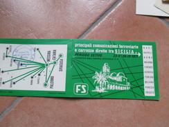 1971 Ferrovie Dello Stato Counicazioni Ferroviarie E Carrozze Dirette SICILIA - Europa