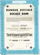 Action Ancienne - Banque Sociale - Banca & Assicurazione