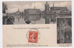 Vue Générale Des Grands Moulins De Corbeil. Pavillon à L'Exposition Du Mans... - Corbeil Essonnes