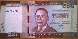 Liberia - 20 Dollars - 2016 - PICK 33a - NEUF - Liberia