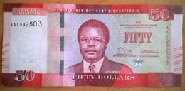 Liberia - 50 Dollars - 2016 - PICK 34a - NEUF - Liberia