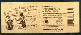 "CARNET  "" N° 590-C3 MARIANNE DE BEAUJARD NEUF **   "" LES TIMBRES GOMMES DE L'ANNEE 2011 "" - Carnets"