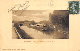 CPA 95 PONTOISE L OISE ILE ST MARTIN ENTREE DU CANAL 1909 - Pontoise