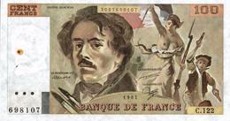 Billet De 100 Francs - 100 F 1978-1995 ''Delacroix''